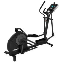 Life Fitness X3 Elliptical Cross Trainer with Track + Console in full black metal frame