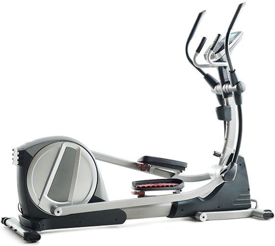 Proform SS 735 Elliptical Machine in a gray and white body frame