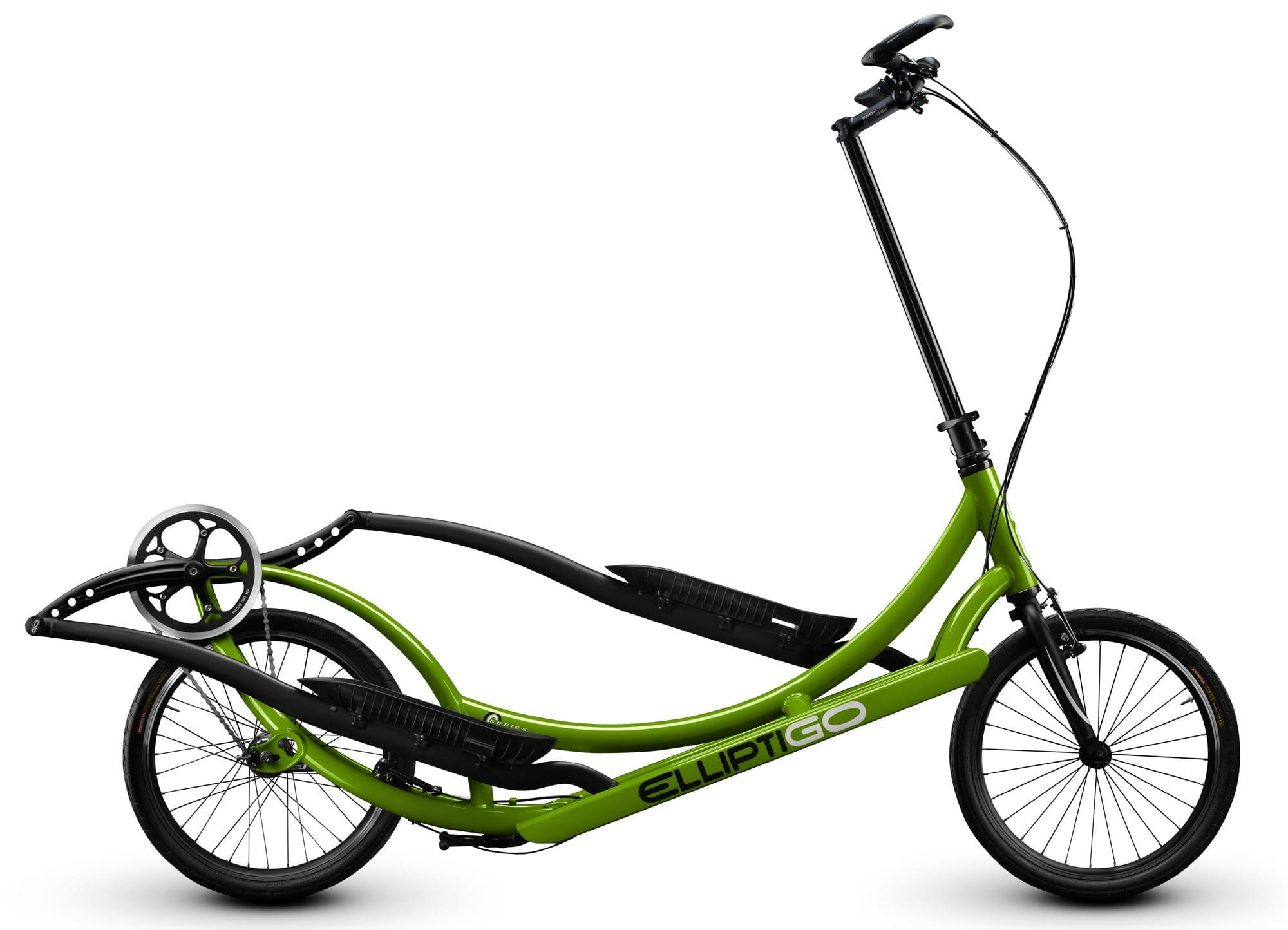 ElliptiGO Meb 8s in full black and green aluminum frame
