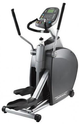 DiamondBack 1260EF Elliptical showing the console, hand grips and water bottle holder
