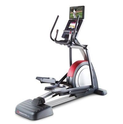 FreeMotion e11.6 elliptical side view to show the console and hand grips