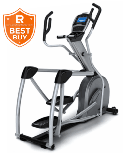 Vision S7100HRT Suspension Elliptical Trainer Machine with best buy logo