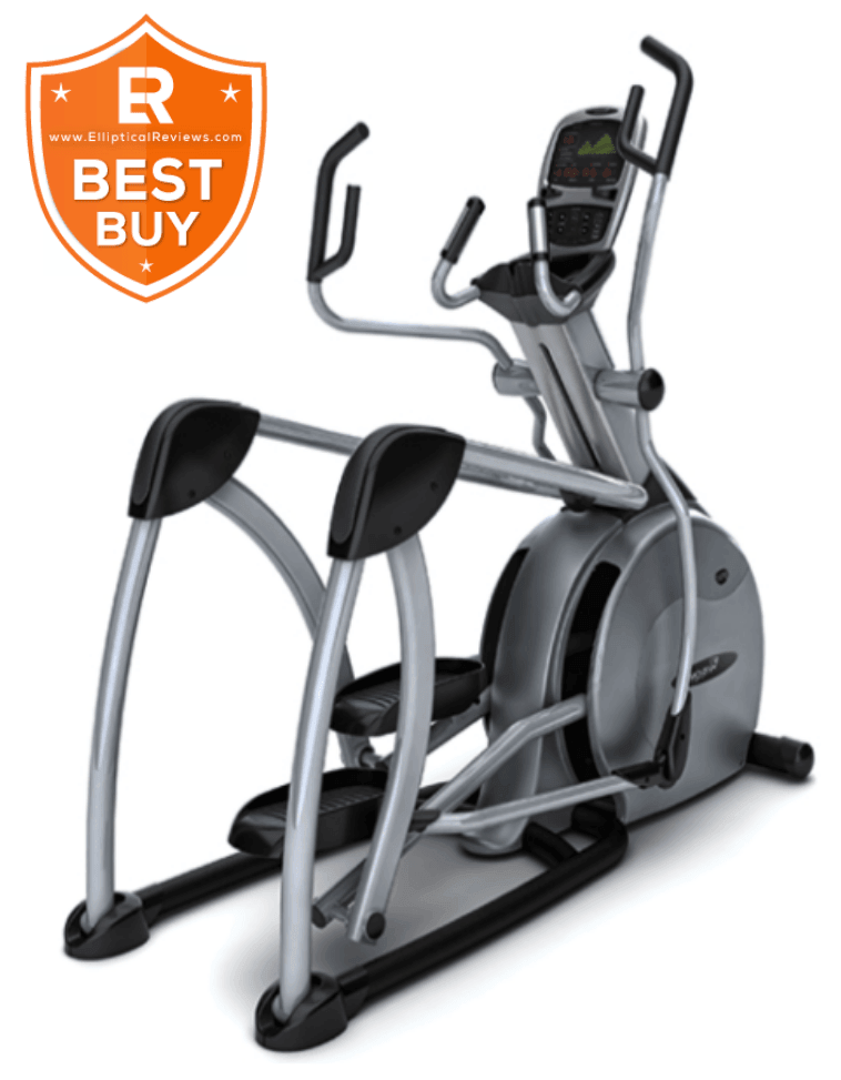 Vision S7200HRT Suspension Elliptical Trainer Machine with best buy logo