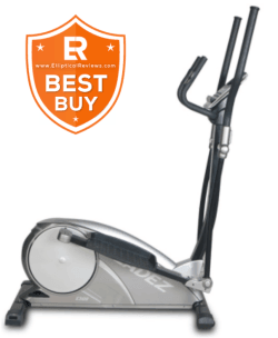 Bladez E300 Elliptical Trainer Machine with best buy logo