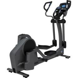 Life Fitness E5 Elliptical Crosstrainer in full black body frame