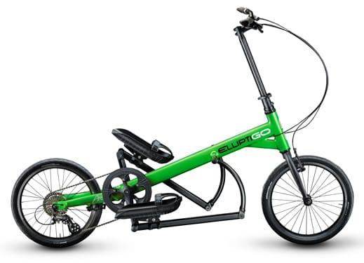 Green Elliptical Arc Elliptical Bike