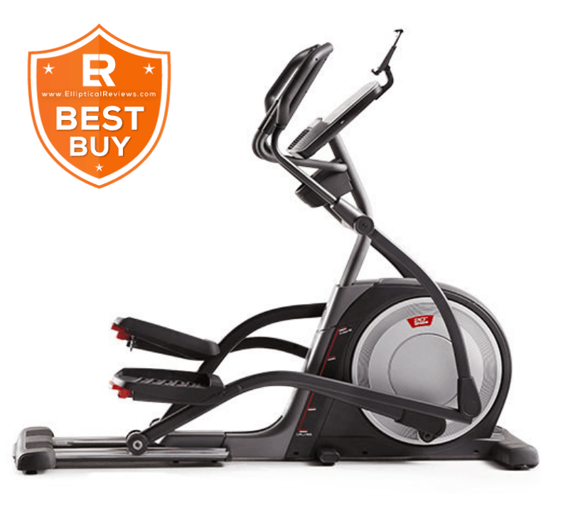 ProForm Pro 16.9 Elliptical Machine Trainer with best buy logo