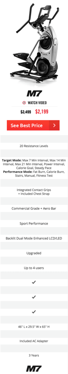 Bowflex Max Trainer M7 Features and Specs