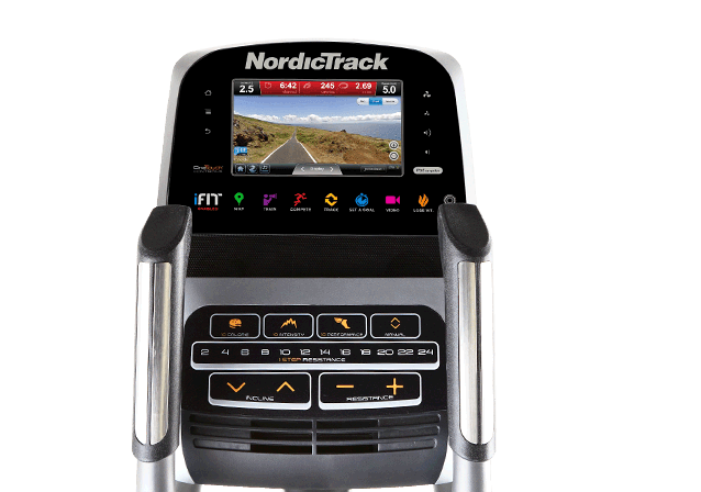 NordicTrack SpaceSaver SE9i Folding Elliptical touchscreen Close Up