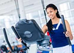 Female on Elliptical Machine