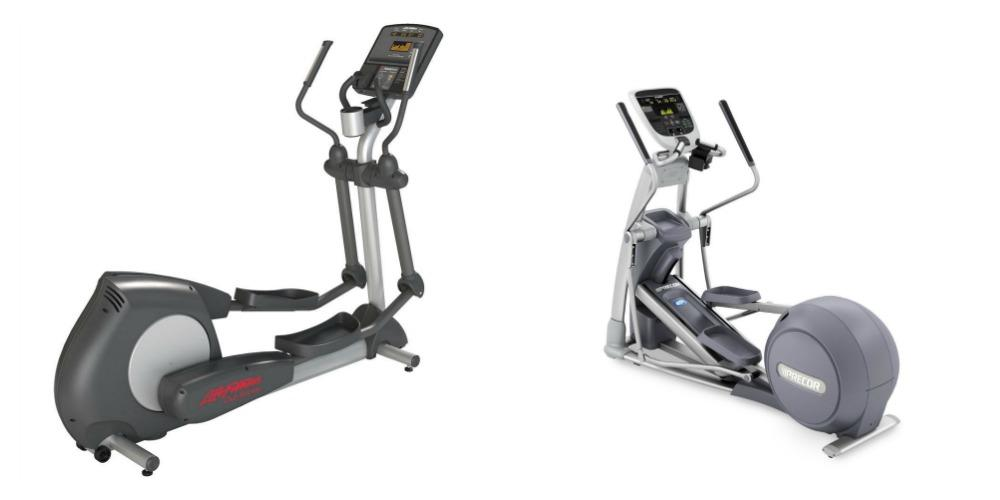 Precor vs Life Fitness Equipment, side by side