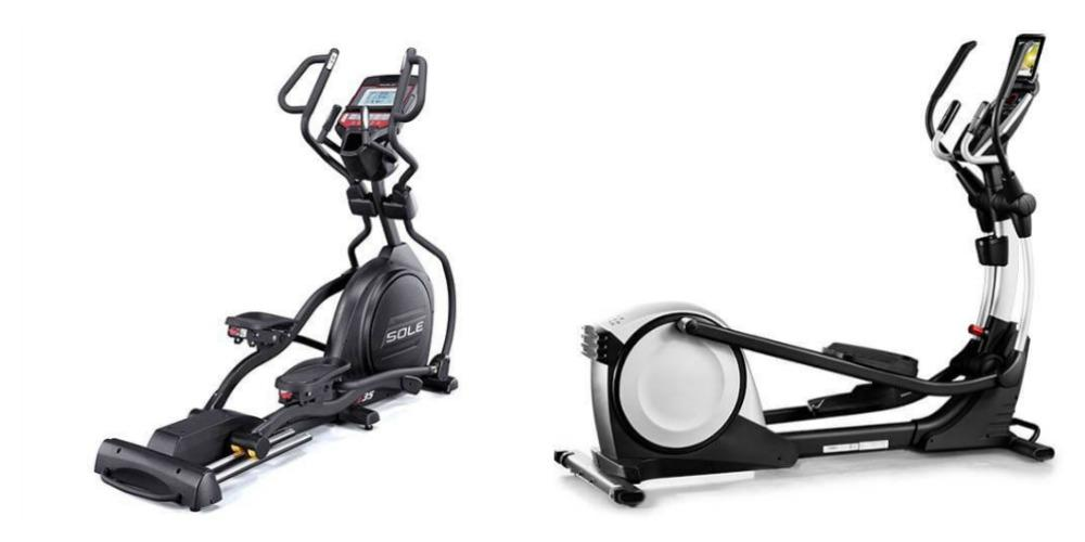 Proform Vs. Sole Elliptical Trainer, side by side