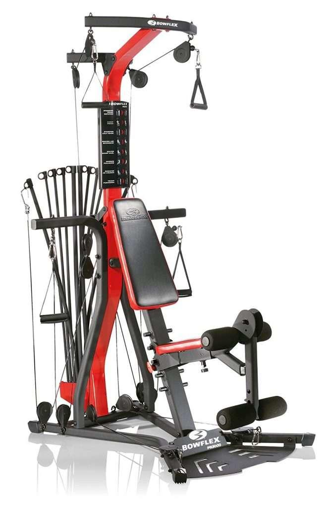 Red and Black Bowflex Equipment
