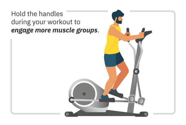 infographic of muscle groups worked on elliptical machine