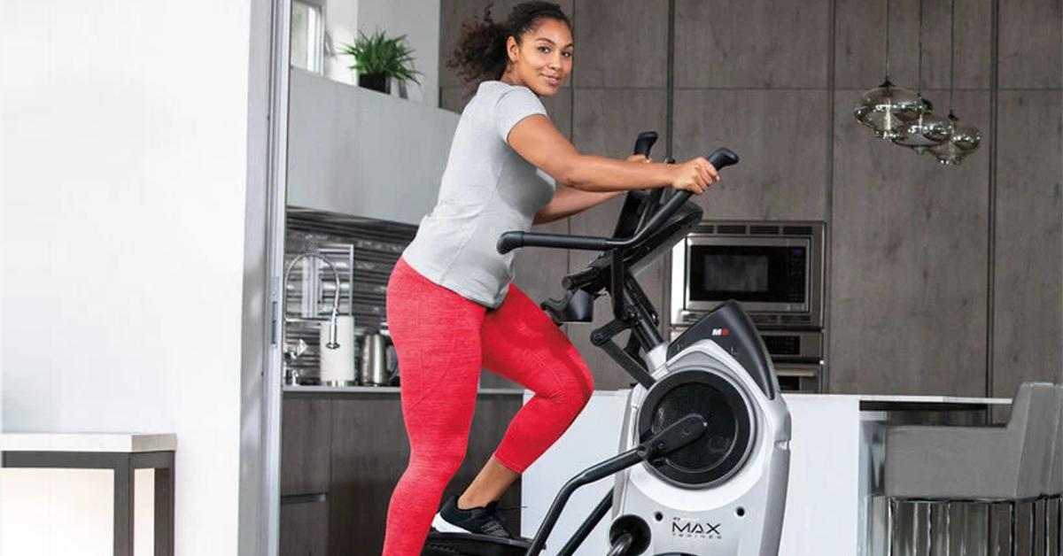 Woman on Bowflex Trainer